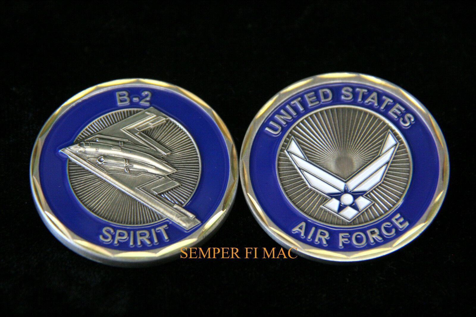 US AIR FORCE B-2 BOMBER CHALLENGE COIN NORTHROP STEALTH