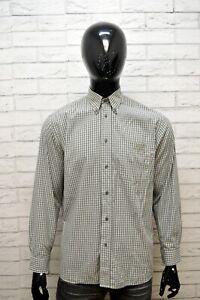 LACOSTE-Camicia-a-Quadri-Uomo-Taglia-40-L-Maglia-Polo-Manica-Lunga-Shirt-Men