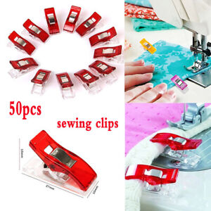 50pcs-Plastic-Sewing-Clips-For-Fabric-Quilting-Craft-Sewing-Knitting-Crochet-DIY