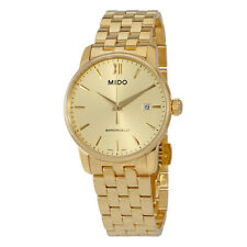 Mido Baroncelli Yellow Gold PVD Steel Mens Watch M0134103302100