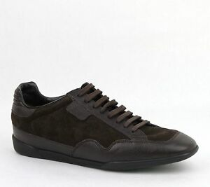 c781c65e5ca New Gucci Men s Dark Brown Suede Leather Lace-up Sneakers 5G US 5.5 ...