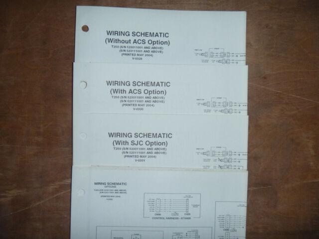 Bobcat T250 Track Loader Electrical Wiring Diagram