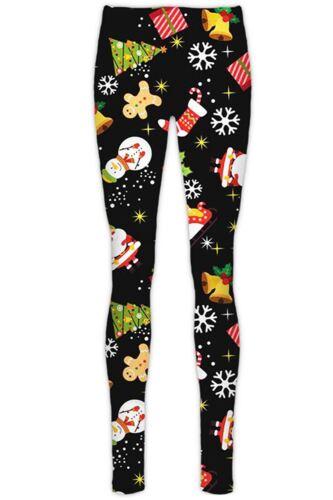 Womens Ladies Christmas Xmas Santa Reindeer Knitted Knitwear Stretchy Leggings