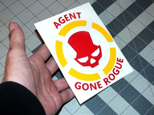 """5/"""" The Division Yellow /& Red Agent Gone Rogue Vinyl Decal Sticker Sign Truck Car"""