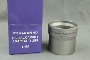 Details about Digital Camera Adapter Tube Bayonet for Canon G3 52mm Made in  Japan