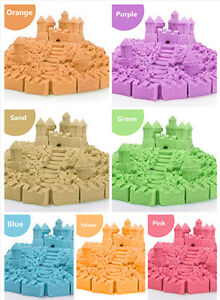 Kinetic Magic Motion Colorful Sand Kid DIY Indoor Play Craft 120g Multi Pcs