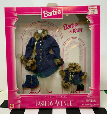 Barbie and Kelly Fashion Avenue Matchin/' Styles Pink Jacket Plaid Skirt  17292