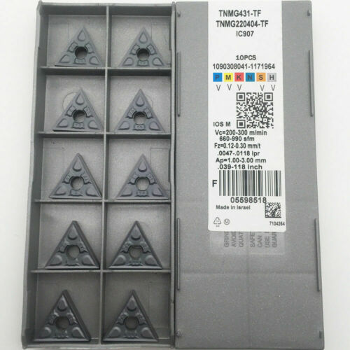10PCS TNMG220404-TF IC907 TNMG431-TF CNC Carbide Inserts FOR STEEL