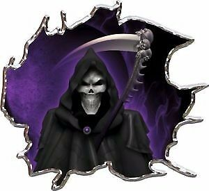 Grim reaper purple race car go kart vinyl graphic decal