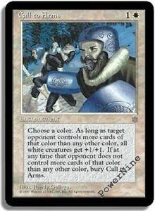 1 Call to Arms = White Ice Age Mtg Magic Rare 1x x1