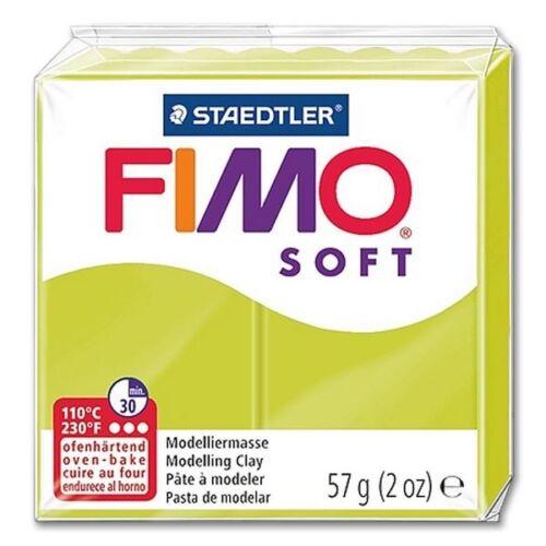 Fimo Soft 52 Vert Limon ofenhärtende Modelages 57 g