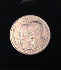 2011 AUSTRALIAN 20 CENT COIN - ROYAL WEDDING PRINCE WILLIAM & KATE MIDDLETON