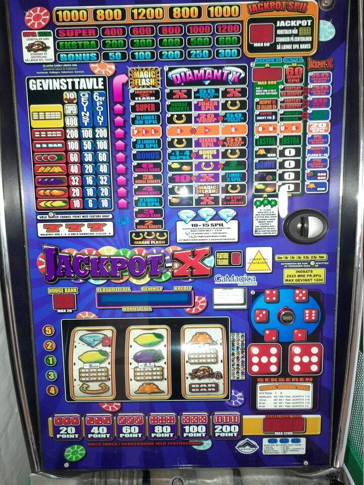 Gamagica Jackpot X, spilleautomat, God