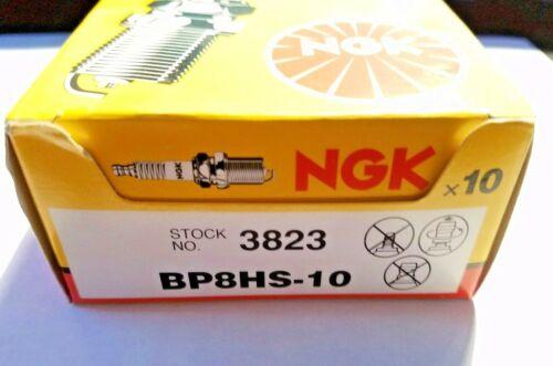 BOX of 10 NGK 3823 BP8HS-10 Standard Spark Plugs Marine  AUTO /& Motorcycle 10x