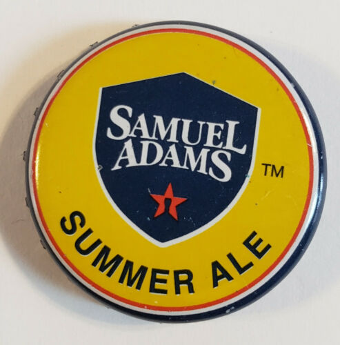 Used, NO DEFECTS 100 Yellow Beer Bottle Caps Sam Adams Summer Ale