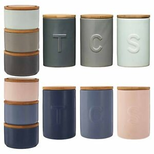 Image Is Loading Fenwick Kitchen Canisters Set Modern Tea Coffee Sugar