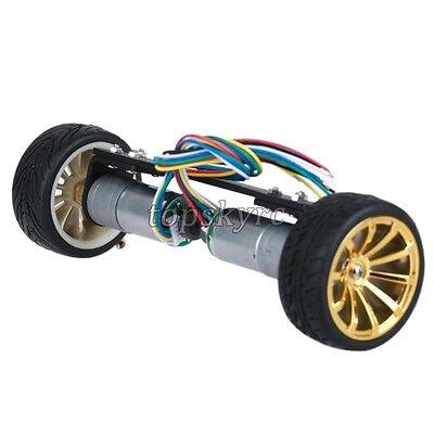 JGA25-13 2WD Car Chassis Self-balancing Car with Metal Gear Motor for RC Models