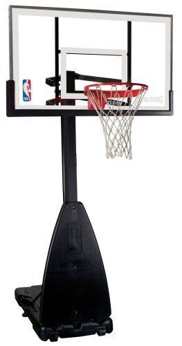 Spalding Nba Portable Basketball System 54in Glass
