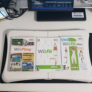 Nintendo Wii Fit Balance Board Wii Fit Plus Play Bundle Complete Clean Tested