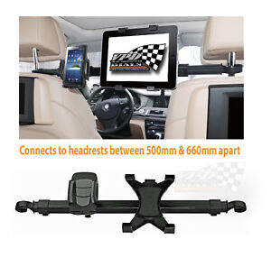 Car Headrest seat panel Universal Bar Mount iPad / Tablet & Phone/iPhone Holder