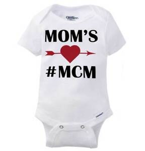 Details About Moms Man Crush Monday Cute Gerber Onesie Hashtag Mcm Adorable Son Baby Romper