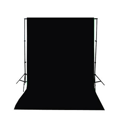 LB 3X5FT BLACK Polyester Photography Backdrop Background Studio Props Washable
