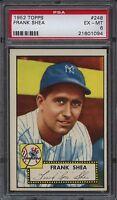 1952 Topps 248 Frank Shea Psa 6 Ex-mt York Yankees