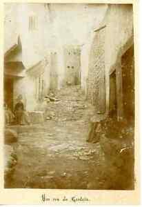 Algerie-Une-Rue-de-Gardaia-Vintage-albumen-print-Tirage-albumine