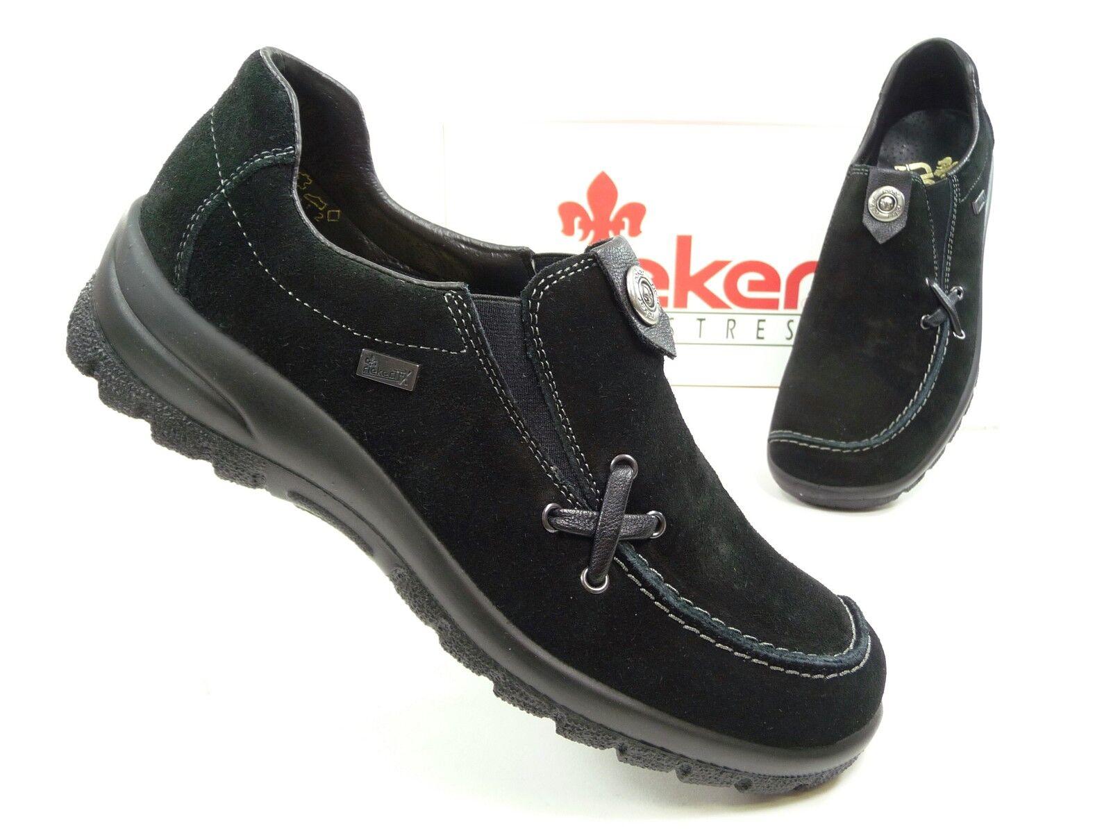 Rieker Tex Damen Schuhe Halbschuhe Slipper in Schwarz (Art.Nr. L7154-00)