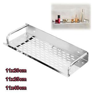 Details about Stainless Steel Bathroom Storage Shelf Basket Wall Rack  Storage Kitchen Holder
