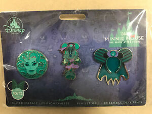 Disney-Pin-Lot-of-3-Minnie-Mouse-The-Main-Attraction-Set-The-Haunted-Mansion