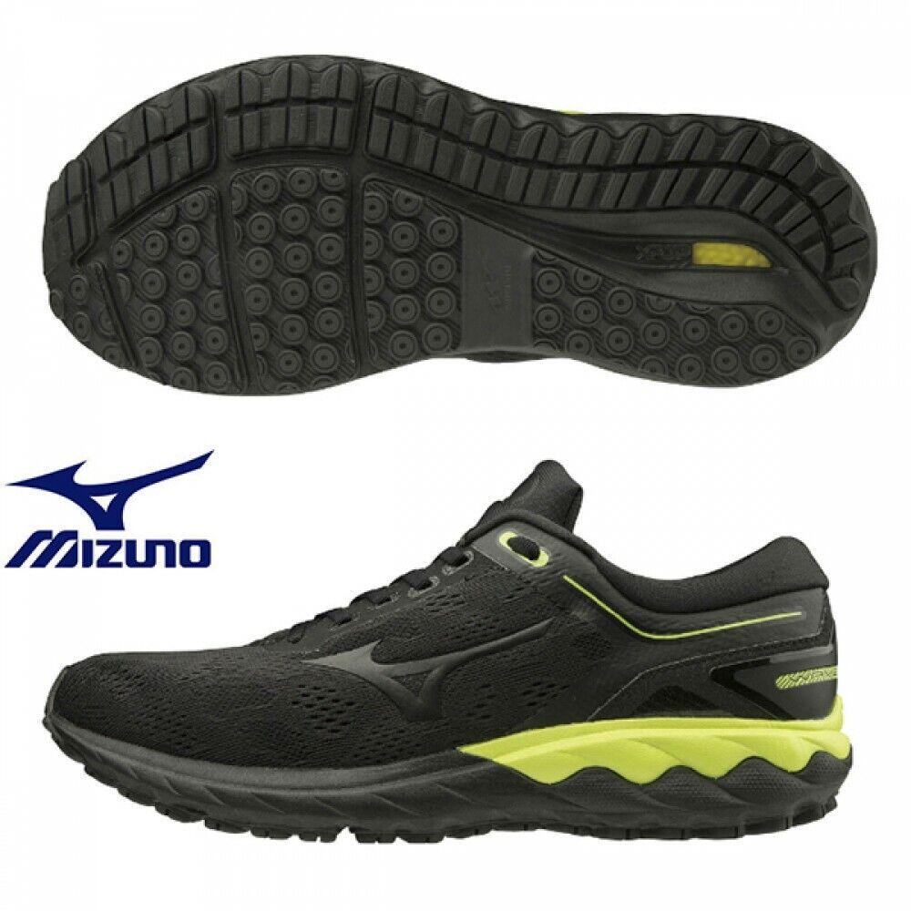 Mizuno Running Marathon Shoes WAVE SKYRISE J1GC2009 Black x Black x Yellow