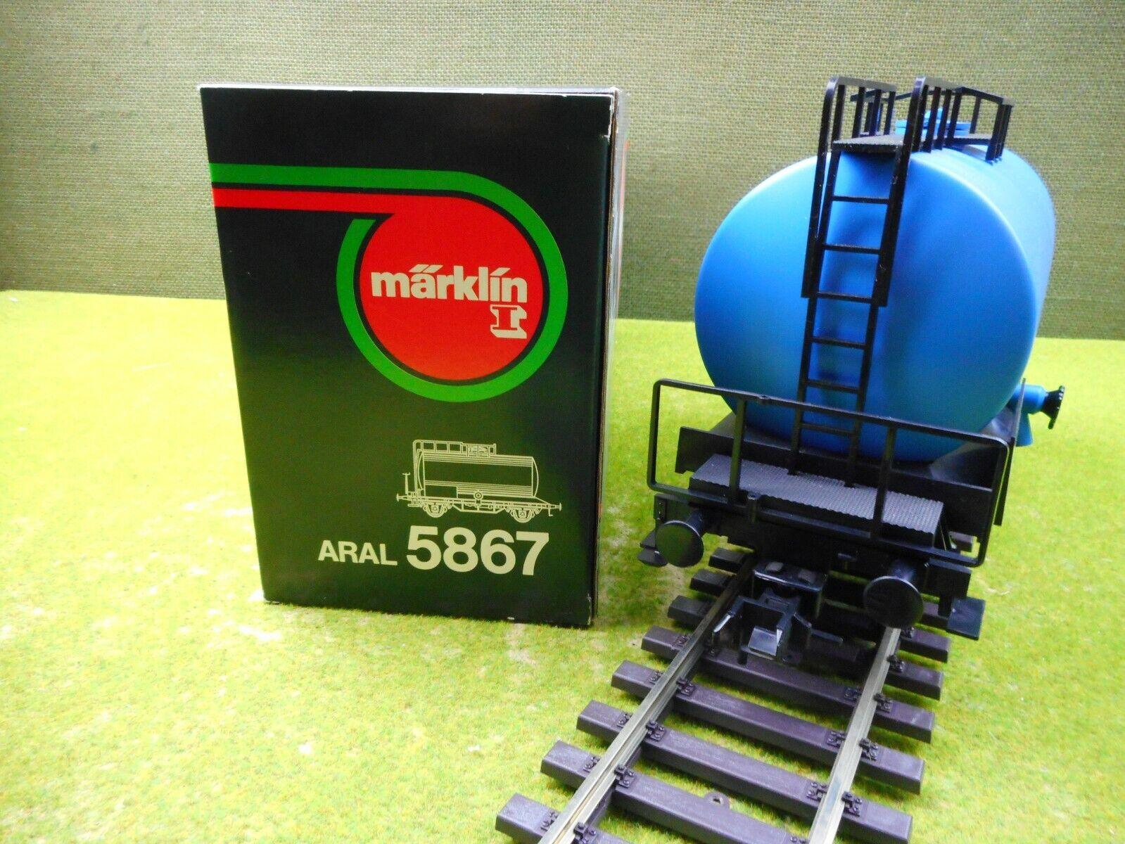 C06 Märklin 5867 traccia 1 carri merci Aral Caldaia Carrello Ovp Top