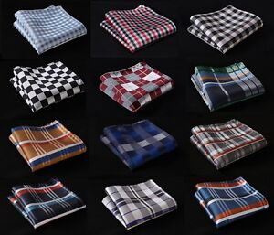 CB-Check-Men-Silk-Satin-Pocket-Square-Hanky-Wedding-Party-Handkerchief