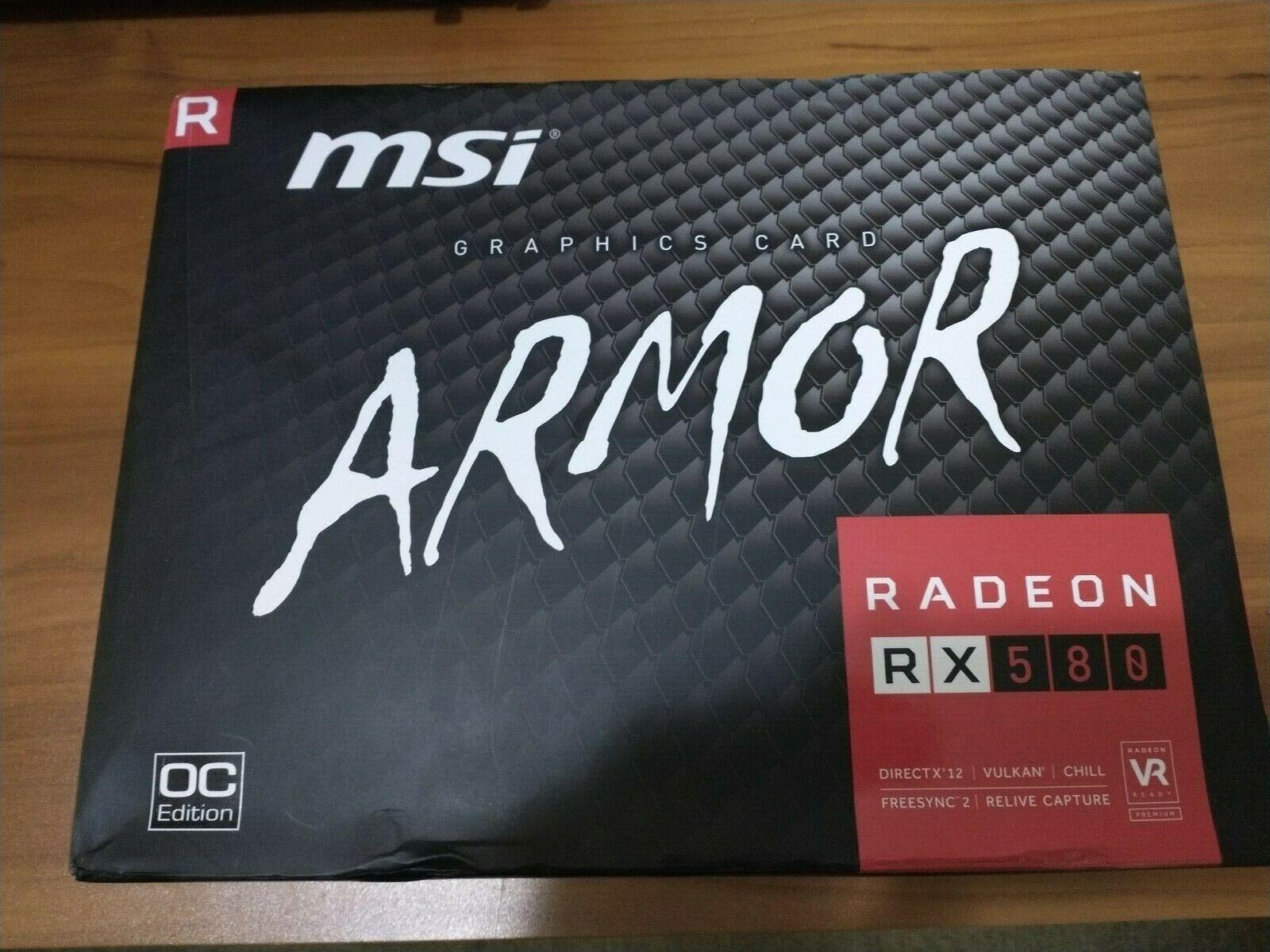 NEW MSI AMD Radeon RX 580 4GB GPU VRAM Graphics Card PC Gaming