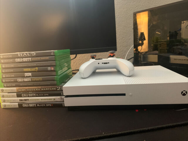 Microsoft Xbox One S 1TB Console - White With Games And Control Freaks