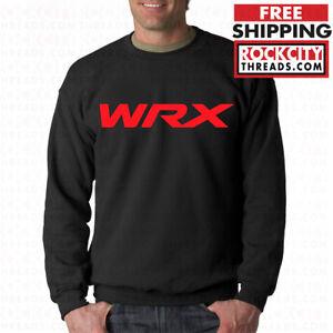 SUBARU-WRX-BLACK-CREW-NECK-STI-Pullover-Sweathshirt-Turbo-Boost-Impreza-Racing