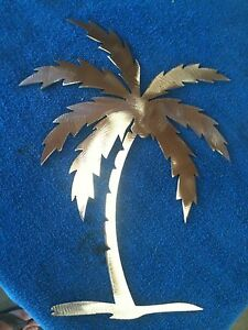palm tree version 2 metal wall art home decor ebay. Black Bedroom Furniture Sets. Home Design Ideas