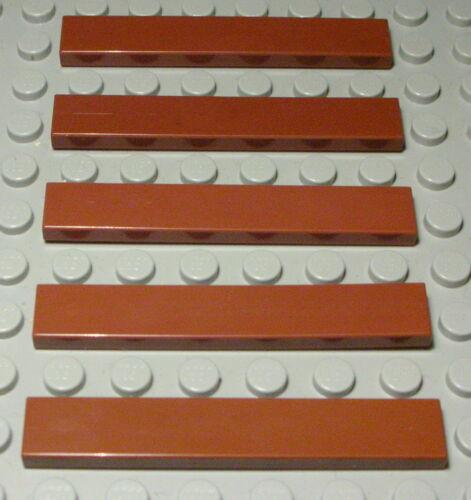 204 Lego Fliese Kachel 1x6 new Braun 5 Stück