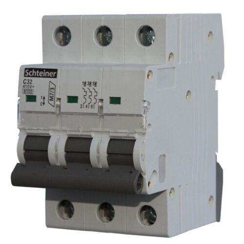 Leitungsschutzschalter C32A 3-Polig 6kA Sicherung Automat LS-Schalter Schteiner