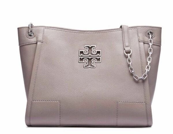 271d745a53dc Tory Burch Britten Slouchy Tote Small French Gray Display for sale online