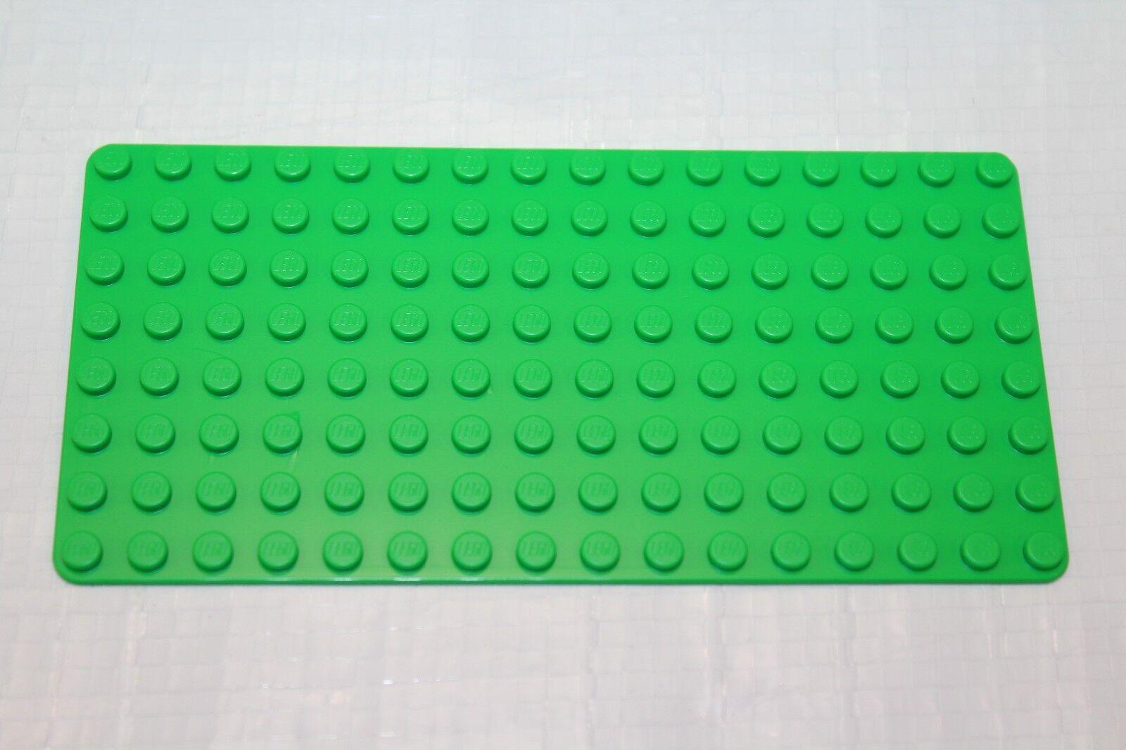 Genuine LEGO Base Plate 8x16 8x16 8x16 MiniFigure - LOT of 500 - BRIGHT Grün Thin - NEW ab27f4
