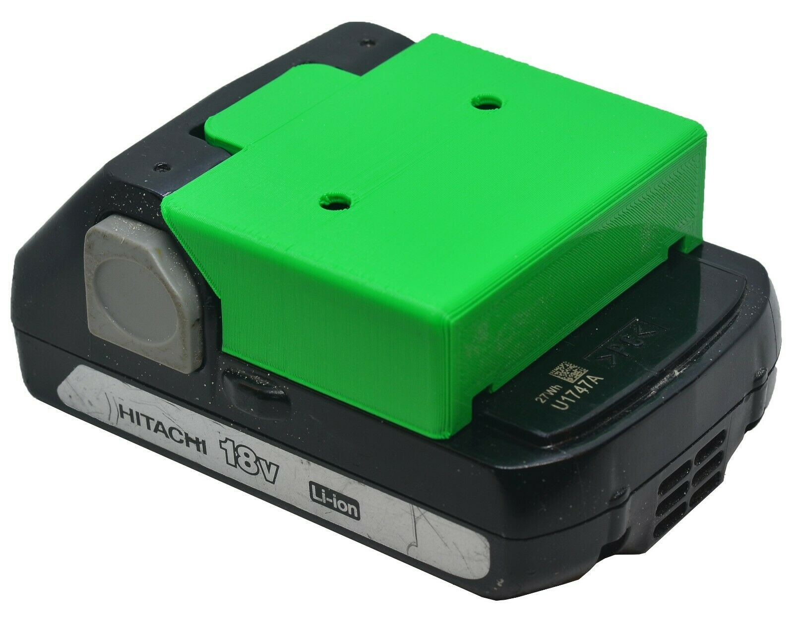 *4-Pack* Hitachi 18V Battery Holder - Protective Cover - Wall Mount