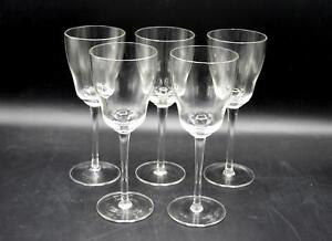 Set-of-5-Toscany-Crystal-Wine-Glasses-Hand-Made-In-Romania