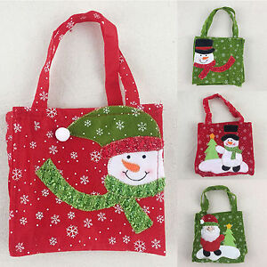 Christmas-Candy-Sac-Pere-Noel-Bonhomme-de-neige-de-Noel-Ornements-Decor-Punch-Sac-a-main