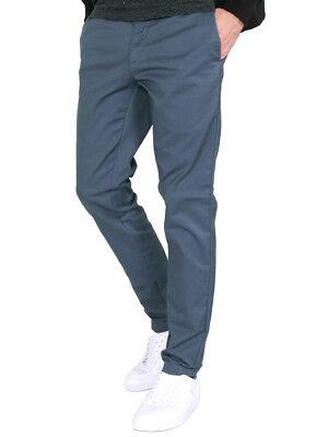 RRP £85 BNWT Carhartt Mens LAMAR Sid Pant Chino Trousers in Stone Blue