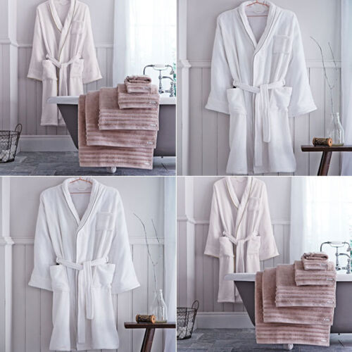 Soft bianco 100 Bath Size Robe Cream Cotton Bianca Velour One 1wq5SUfc6z