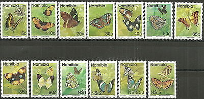 Diskret Namibia - Schmetterlinge Satz Postfrisch 1993 Mi. 751-763 Seien Sie In Geldangelegenheiten Schlau