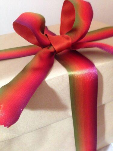 Kaléidoscope Rainbow Réversible Design Chaud Nuances-luxe Wire Edged Ribbon