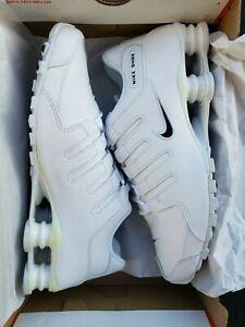 Nike-Shox-NZ-EU-034-White-034-501524-106-Sizes-8-13-Yellowing
